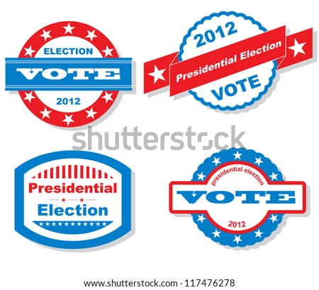 Presidential Election Badges
