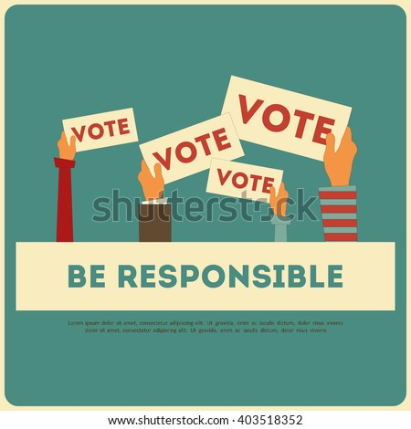 Presidential Election Voting Poster. Vote Concept. Vector Illustration. - stock vector