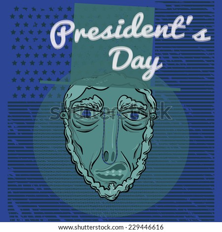Presidents day background - stock vector