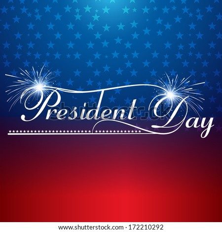 Presidents day background united states stars illustration vector - stock vector
