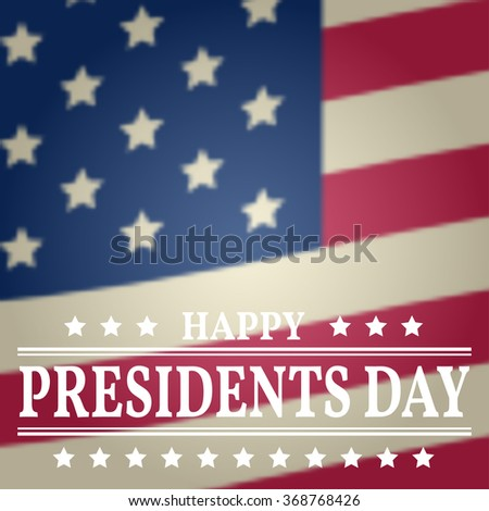 Presidents Day. Presidents Day Vector. Presidents Day Drawing. Presidents Day Image. Presidents Day Graphic. Presidents Day Art. President's Day. American Flag. - stock vector