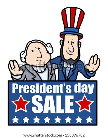 Presidents Day Sale - Vector Illustration - stock vector