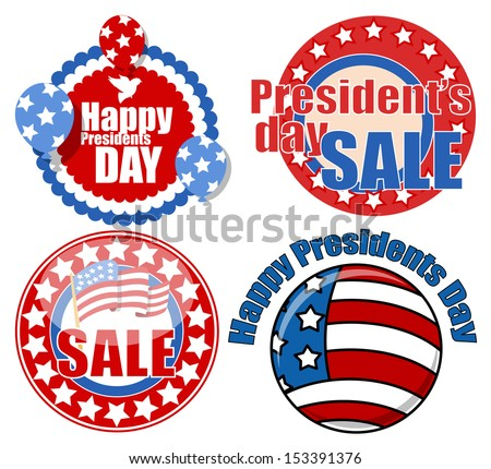 Presidents Day Seal Badges Circular Vector