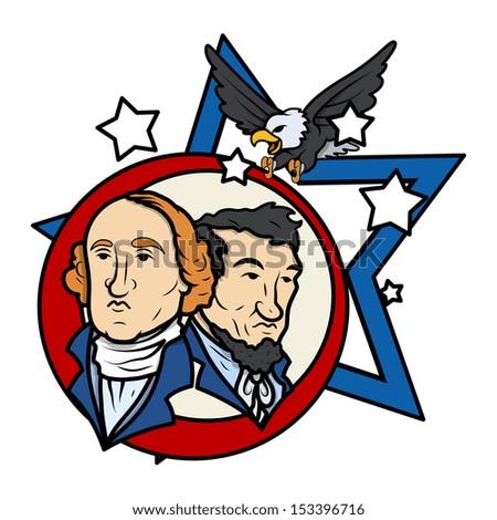Presidents Day Vector Illustration - stock vector