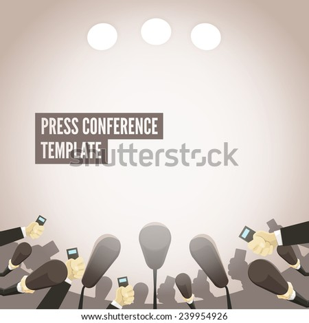 Press conference template - stock vector