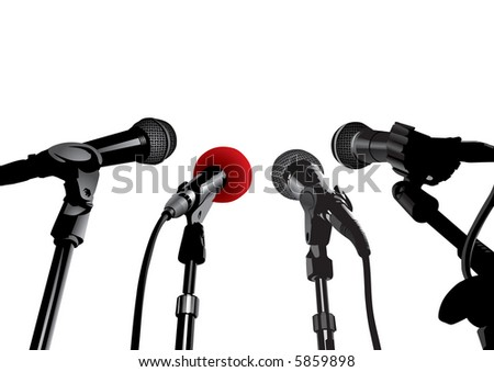 Press Conference (vector). In the gallery also available XXL jpeg image made from this vector - stock vector