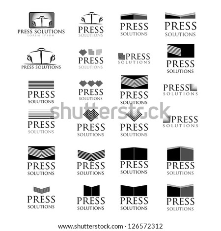 Press Icons Set - Isolated On White Background - Vector Illustration, Graphic Design Editable For Your Design. Logo Symbol - stock vector