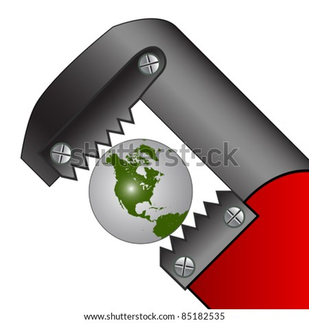 pressed earth, abstract vector art illustration; image contains clipping mask - stock vector