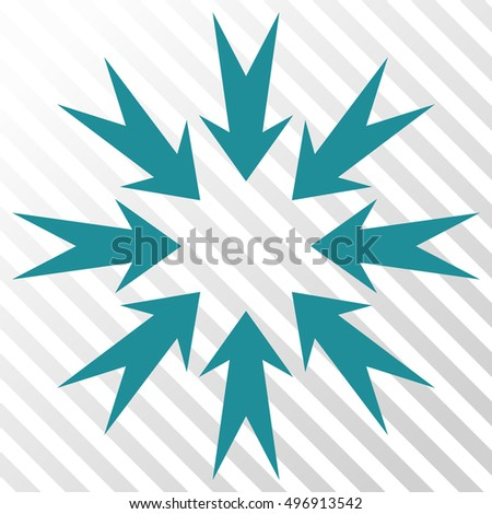Pressure Arrows vector icon. Image style is a flat soft blue icon symbol on a hatch diagonal transparent background.