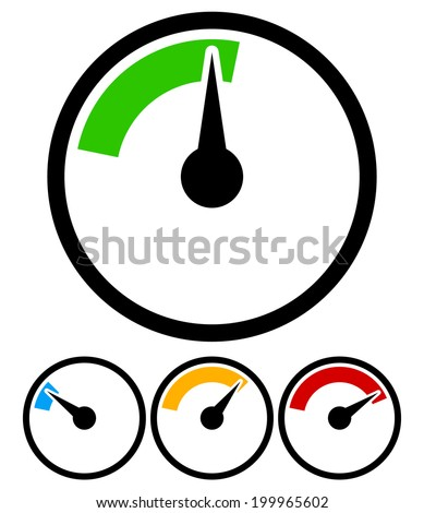 Pressure gauge, dial template - stock vector