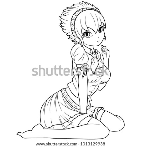 how to draw a woman kneeling