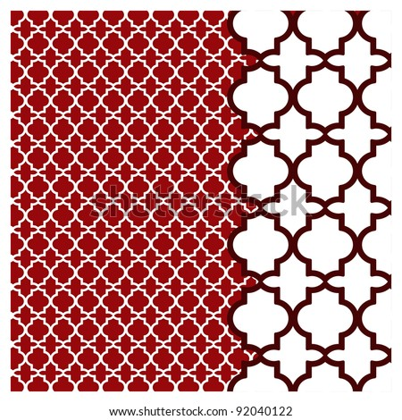 pretty background pattern - detail to side - stock vector