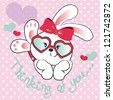 pretty bunny - stock vector