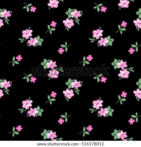 pretty ditsy flower print seamless background