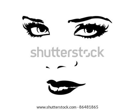 Pretty Face - stock vector