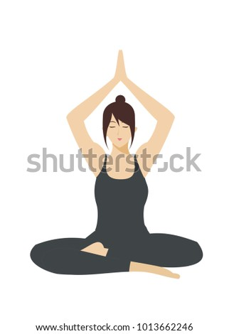 pretty young lady practicing yoga