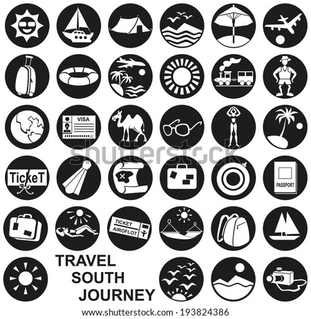 Preview icon in a circle with the theme ideal travel and tourism. - stock vector