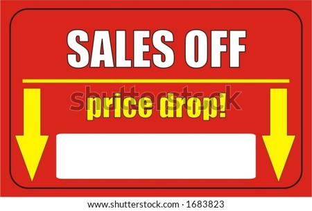 price drop, vector illustration - stock vector