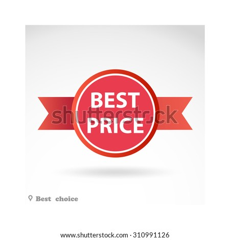 Price labels - stock vector