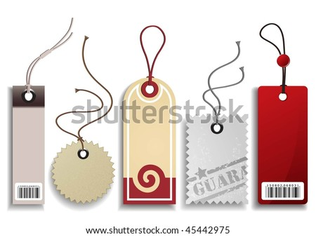 Price Labels Set - stock vector
