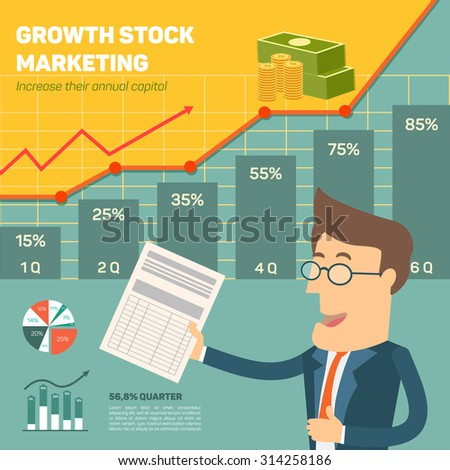 Price movement. Profit graph for diagram. Electronic stock numbers. Profit gain. Business stock exchange. Flat icon modern design style concept - stock vector