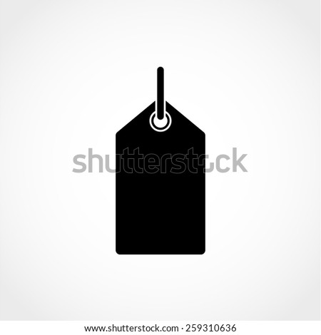 Price tag Icon Isolated on White Background - stock vector