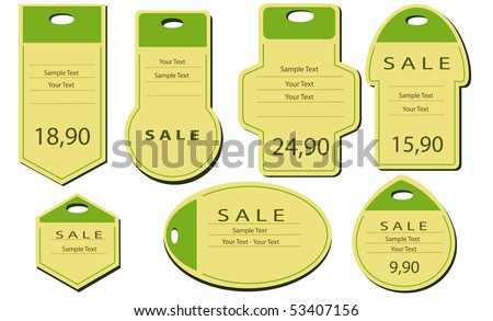 price tag labels - stock vector