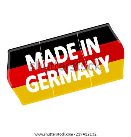 """price tag """"MADE IN GERMANY"""" - stock vector"""