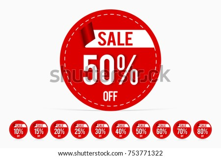price tag promotion sale template discount stock vector royalty