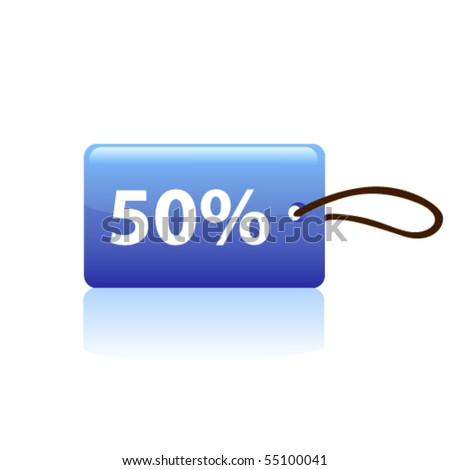Price tag. Vector - stock vector