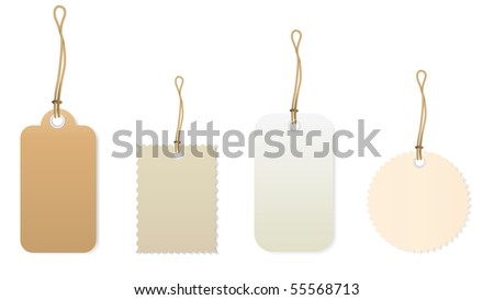 price tags 1 - stock vector