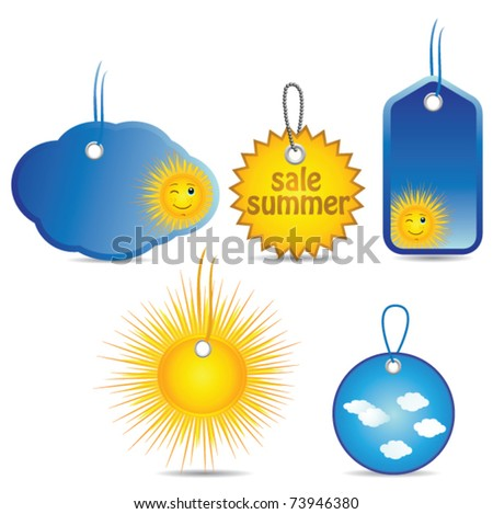 price tags and sale - stock vector