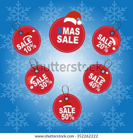 Price Tags Design Set. Boxing Day and christmas sale Price Tags Design. vector illustrator - stock vector