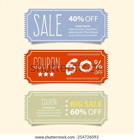 Price tags design, vector illustration. - stock vector