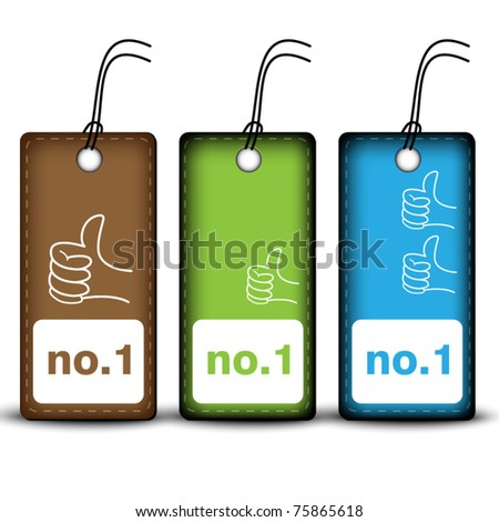 Price tags - number one - stock vector