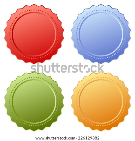 Price tags set - stock vector