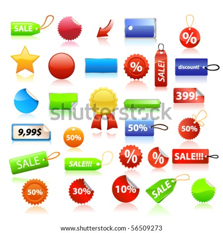 Price tags set. Vector - stock vector