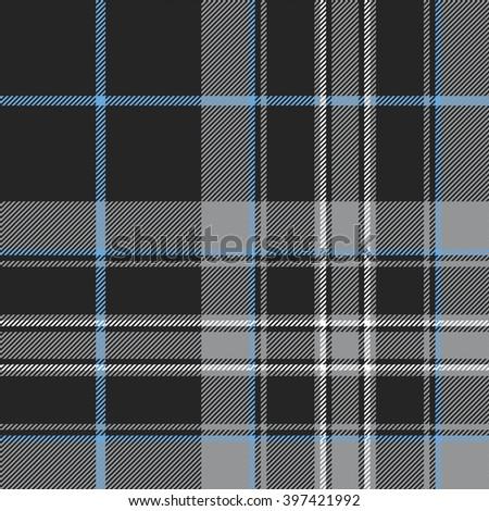 Pride of scotland platinum tartan fabric texture seamless pattern .Vector illustration. EPS 10. No transparency. No gradients. - stock vector