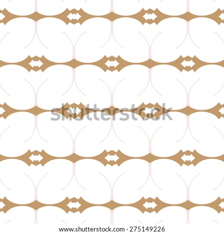 Primitive simple retro seamless pattern with lines and circles - stock vector