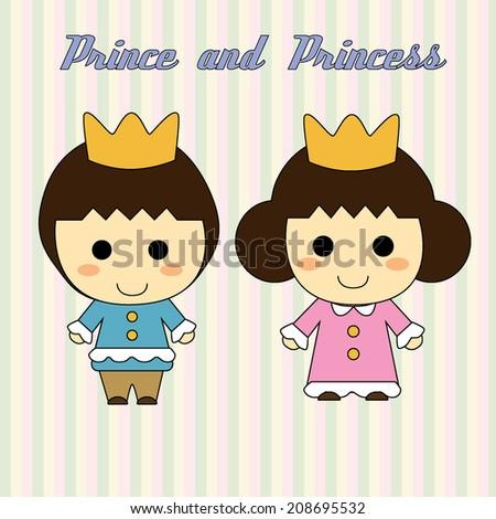 Little Prince and Princess Cartoon