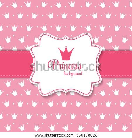 Princess Crown  Background Vector Illustration. - stock vector