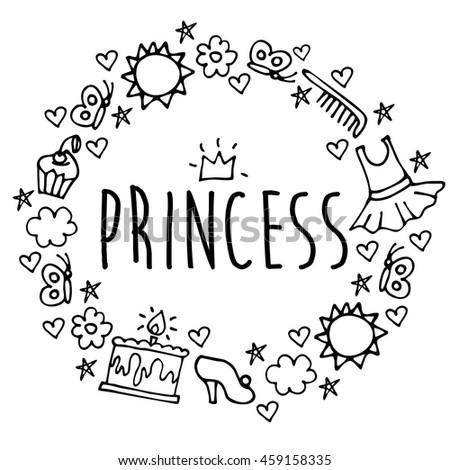 Princess greeting card postcard poster birthday stock vector princess greeting card postcard poster birthday invitation typography background design vector illustration eps10 stopboris Image collections