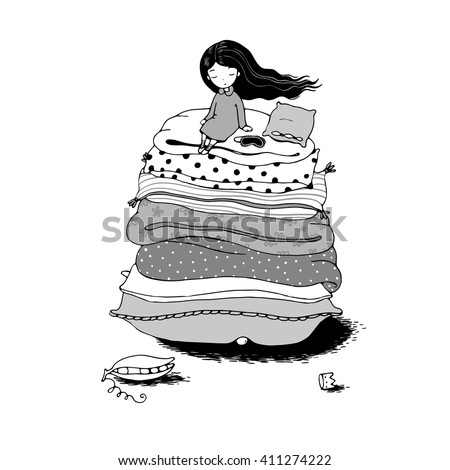 blanket clipart black and white. blankets and pillows. hand drawing isolated objects on white background blanket clipart black
