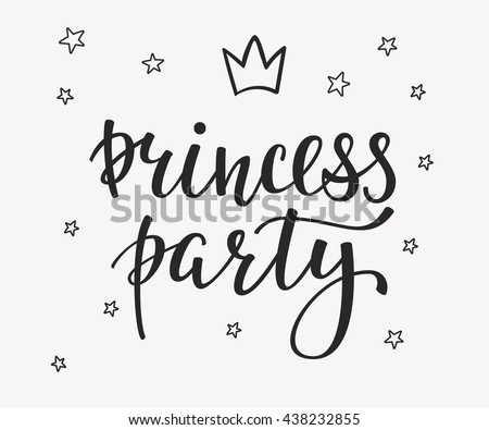 Princess Party Bridal Shower Hen Birthday Stock Vector