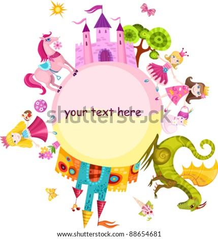 princess set - stock vector