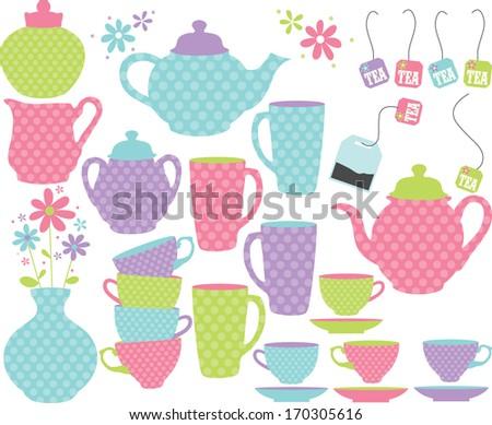 Princess Tea Party - stock vector