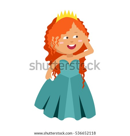 Princesses vector cute beautiful characters. Adorable elegance style little fairy red hair girl. Old  sc 1 st  Shutterstock & Princesses Vector Cute Beautiful Characters Adorable Stock Vector ...