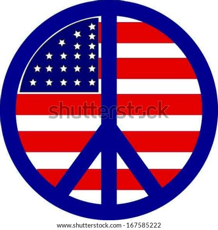 Print Classic Peace Symbol Antivietnam War Stock Vector 167585222