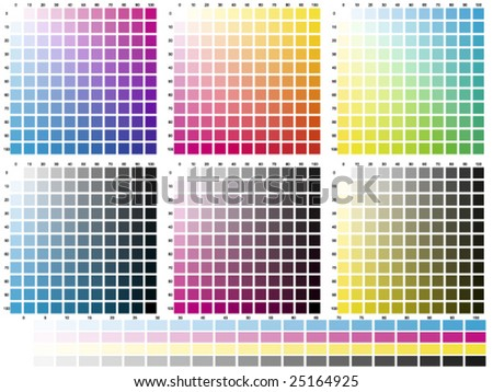 Print colours set by ten percent - stock vector