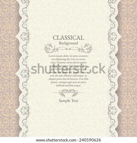 Print. Invitation card. Wedding invitation. - stock vector